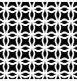 Black and white geometric seamless pattern vector image vector image