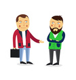 Businessman greeting partner concept Business vector image vector image