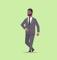 businessman in formal wear standing pose smiling vector image vector image