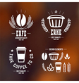 Cafe and cake emblems and icons vector image
