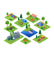 camping and tourism - set colorful vector image vector image