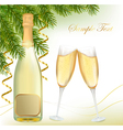 champagne with bottle vector image vector image