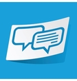 Chatting sticker vector image vector image