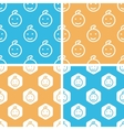 Child face pattern set colored vector image