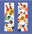 children nationalities kids characters in vector image