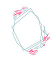 christmas hand drawn wreath geometry frame vector image vector image