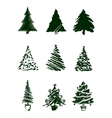 Christmas tree sketches vector | Price: 1 Credit (USD $1)