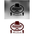 Classy Barber Shop icon emblem or label vector image vector image