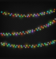 color light garlands christmas lights holiday vector image