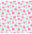 colorful line art berry seamless pattern print vector image vector image