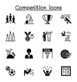 competition contest tournament icons set graphic vector image