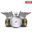 Concept banner Car racing and championship vector image