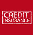 credit insurance text insurance word vector image
