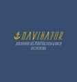 decorative italic narrow serif font vector image