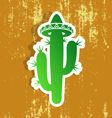 Desert cactus label vector image vector image