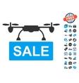 Drone Sale Icon With Free Bonus vector image vector image