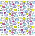 emoji clouds seamless patr funny kawaynaya vector image vector image