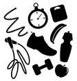 Exercise Elements vector image