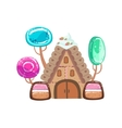 Fairy Tale House With Candy Trees Fantasy Candy vector image vector image