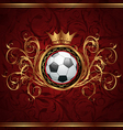 Football background with a gold crown vector image vector image
