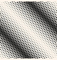 geometric halftone seamless pattern diagonal vector image vector image