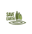 green earth tree ecology environment icon vector image vector image