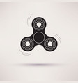 hand fidget spinner toy icon vector image