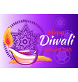 happy diwali festival of lights 2018 banner vector image vector image