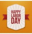 Happy Labor Day big white Label vector image