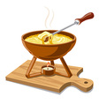 hot cheese fondue vector image vector image