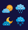 icon set climate objects cartoon vector image