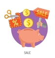 Internet Shopping and Sale Flat Icons vector image