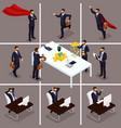 isometric 3d businessmen vector image