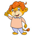 little lion waving hand vector image