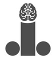 male penis brain flat icon vector image