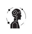 managing mind black concept icon managing vector image vector image
