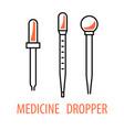 medicine dropper logo vector image