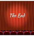 Movie ending screen concept background in vector image vector image