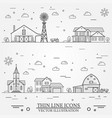 neighborhood with buildings on white vector image vector image