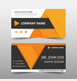 orange corporate business card name card template