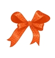 orange gift bow vector image