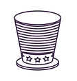 patriotic hat isolated icon design vector image vector image