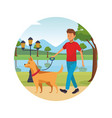 person alone at city park cartoons vector image vector image