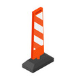 road street barrier vector image