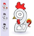 Rooster 2017 year concept vector image