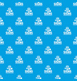 sea signs pattern seamless blue vector image