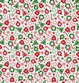 Seamless pattern of christmas texture icons on vector image