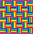seamless rainbow pattern vector image