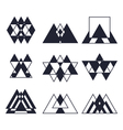 Set of geometric shapes Trendy icons and logotypes vector image vector image