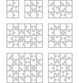seven different white puzzles vector image vector image